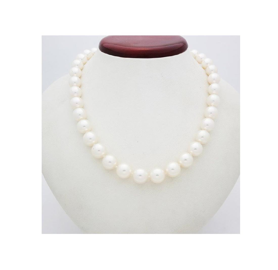 Mikimoto Pearl Necklace 18kGold & Blue Enamel Necklace