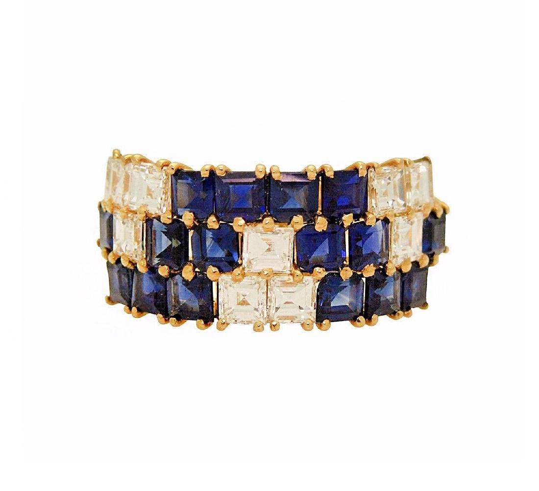 Van Cleef & Arpels 18K 2.5 TCW Diamond & Sapphire  Ring - 2
