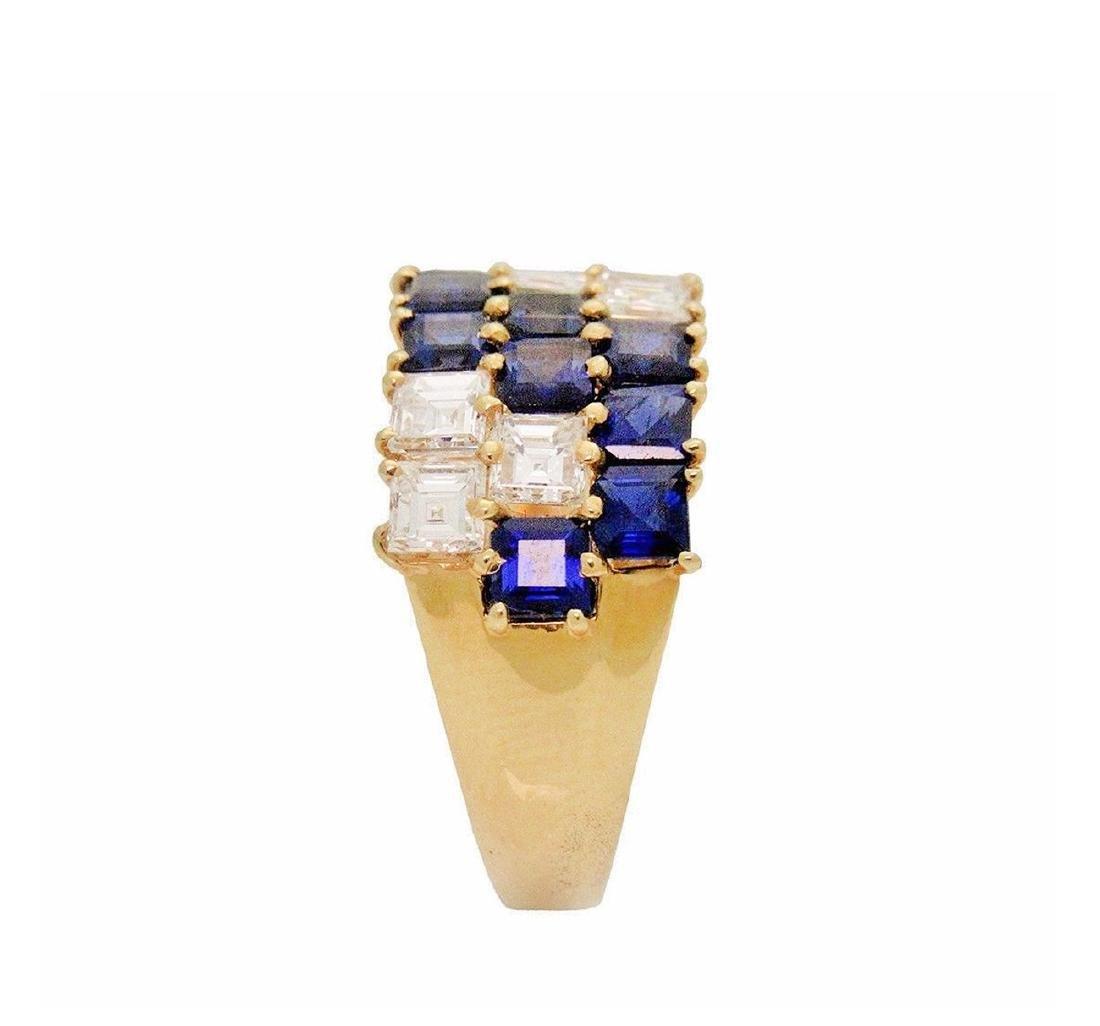 Van Cleef & Arpels 18K 2.5 TCW Diamond & Sapphire  Ring - 4