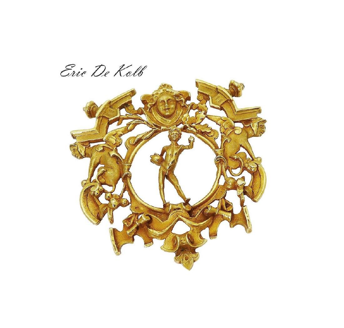 Eric De Kolb 18k Yellow Gold LARGE Pendant