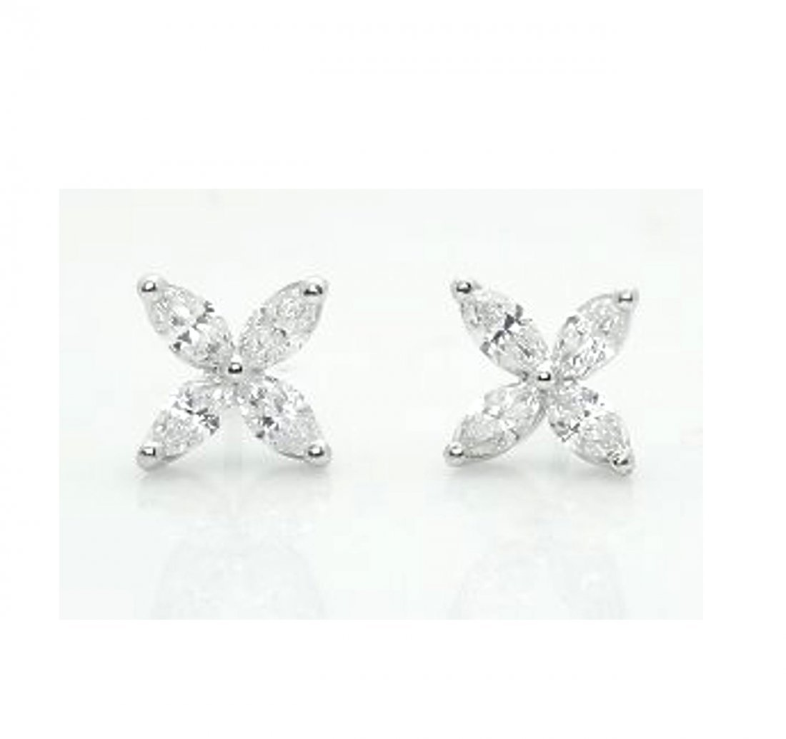 LG Tiffany & Co Victoria PT 1.62TCW Diamond Earrings