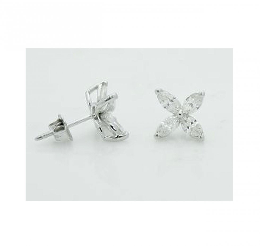 LG Tiffany & Co Victoria PT 1.62TCW Diamond Earrings - 2