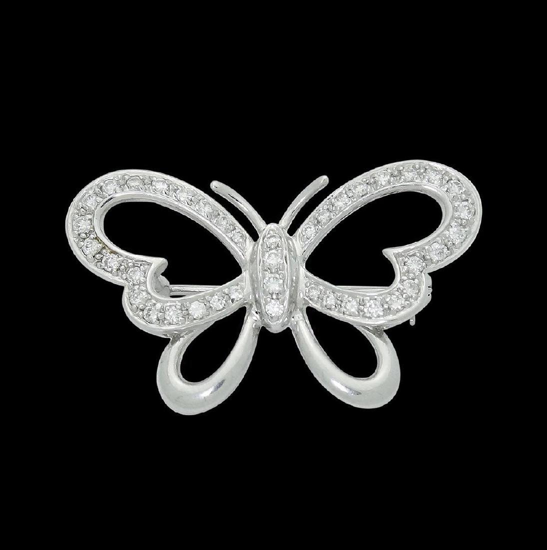 Craig Drake 18k & 0.50 VS G-H Diamond Butterfly Pin - 2