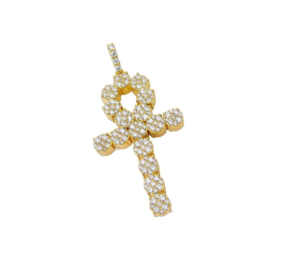 14k Yellow Gold Over 3.00 TCW Round Brilliant Diamond