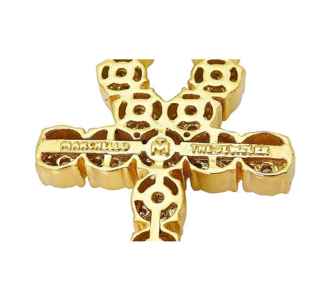 14k Yellow Gold Over 3.00 TCW Round Brilliant Diamond - 4