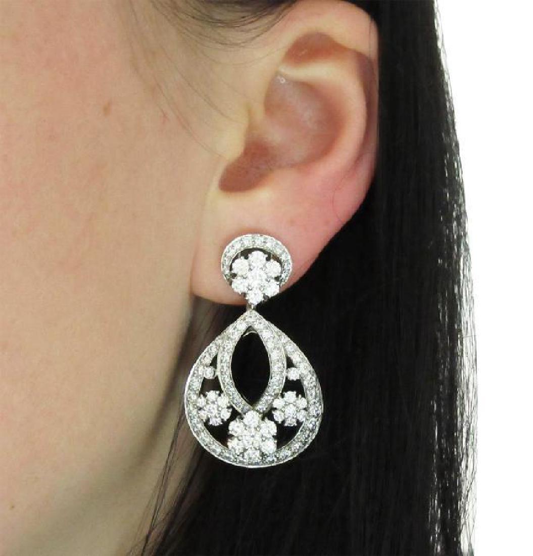 Van Cleef & Arpel Snowflake Diamond Lg Clip-On Earrings - 6