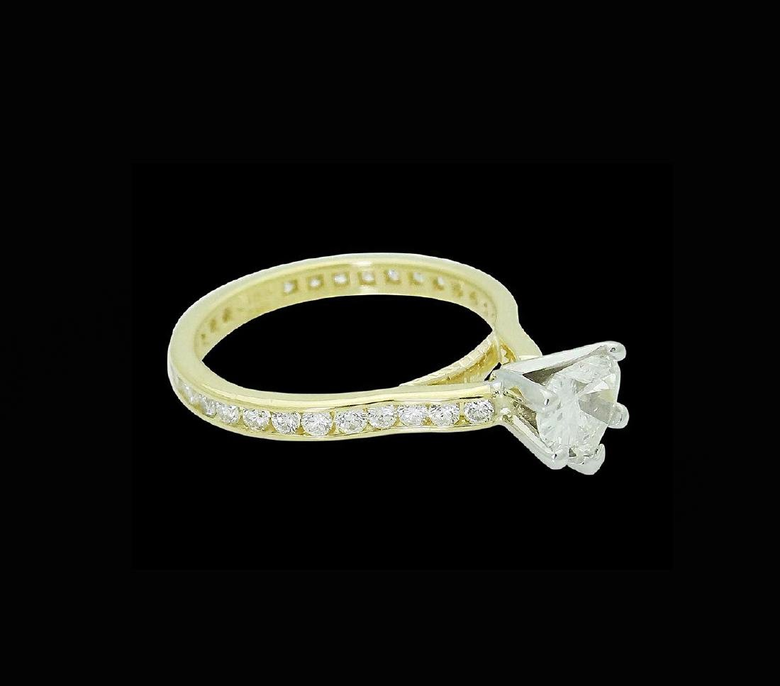 18k Gold & 1.75 TCW Diamond Engagement Ring with Heart - 3