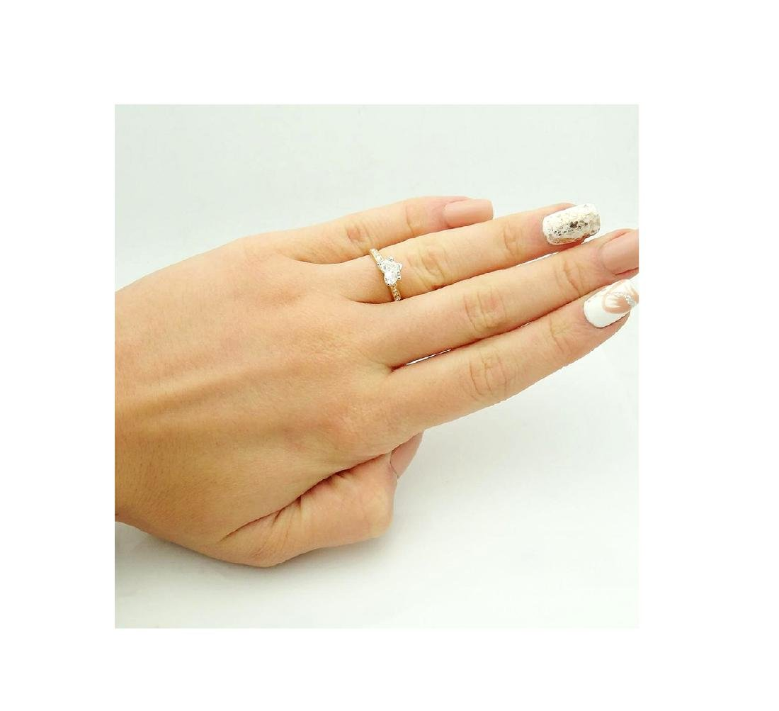 18k Gold & 1.75 TCW Diamond Engagement Ring with Heart - 6