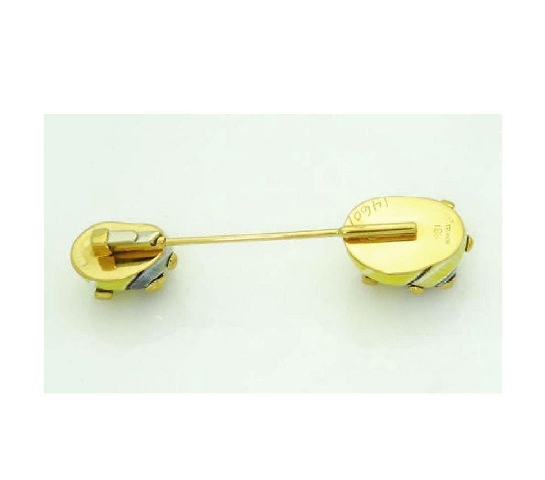 TRIANON 18K YELLOW GOLD PIN BROOCH - 6