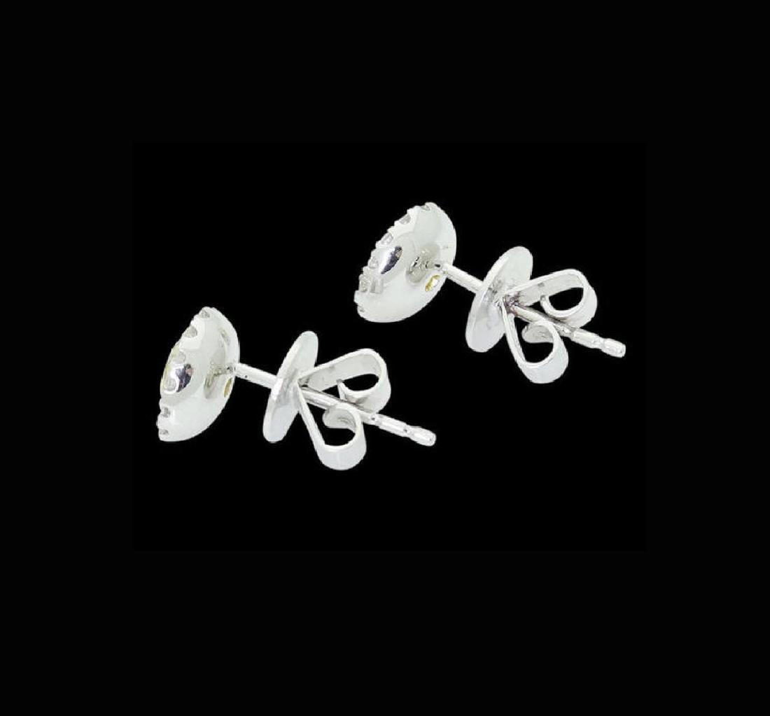 18k White Gold 1.11 TCW Fancy Yellow & White Diamond - 4