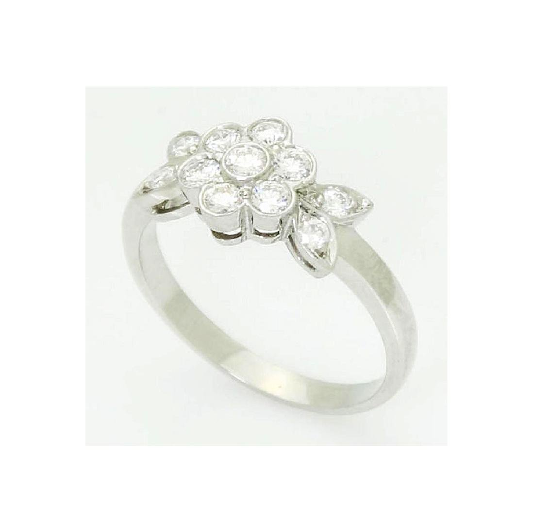 Tiffany & Co Blossom Collection Plat 950 Round Cut Ring - 2