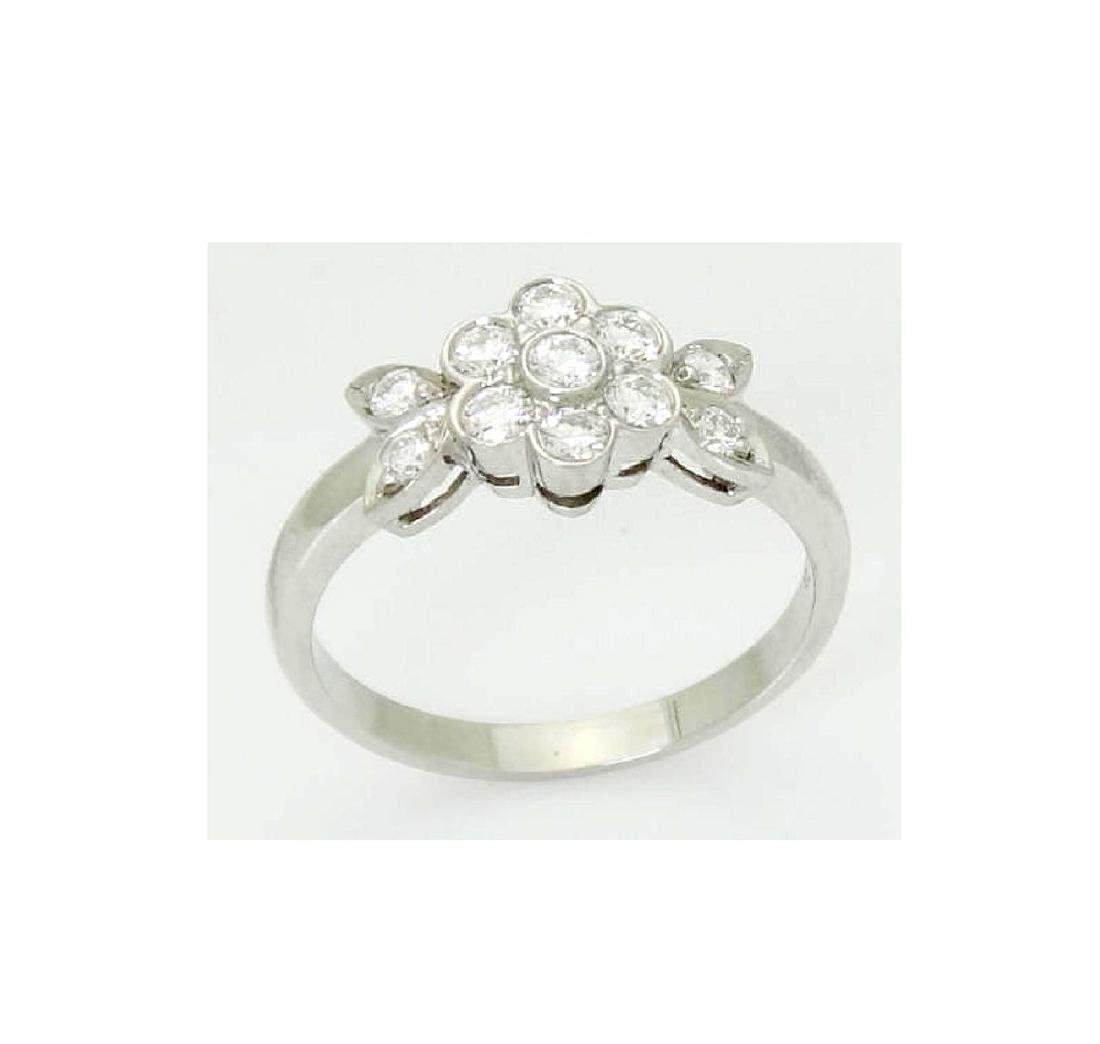 Tiffany & Co Blossom Collection Plat 950 Round Cut Ring - 3