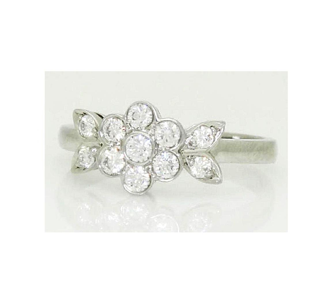 Tiffany & Co Blossom Collection Plat 950 Round Cut Ring - 4