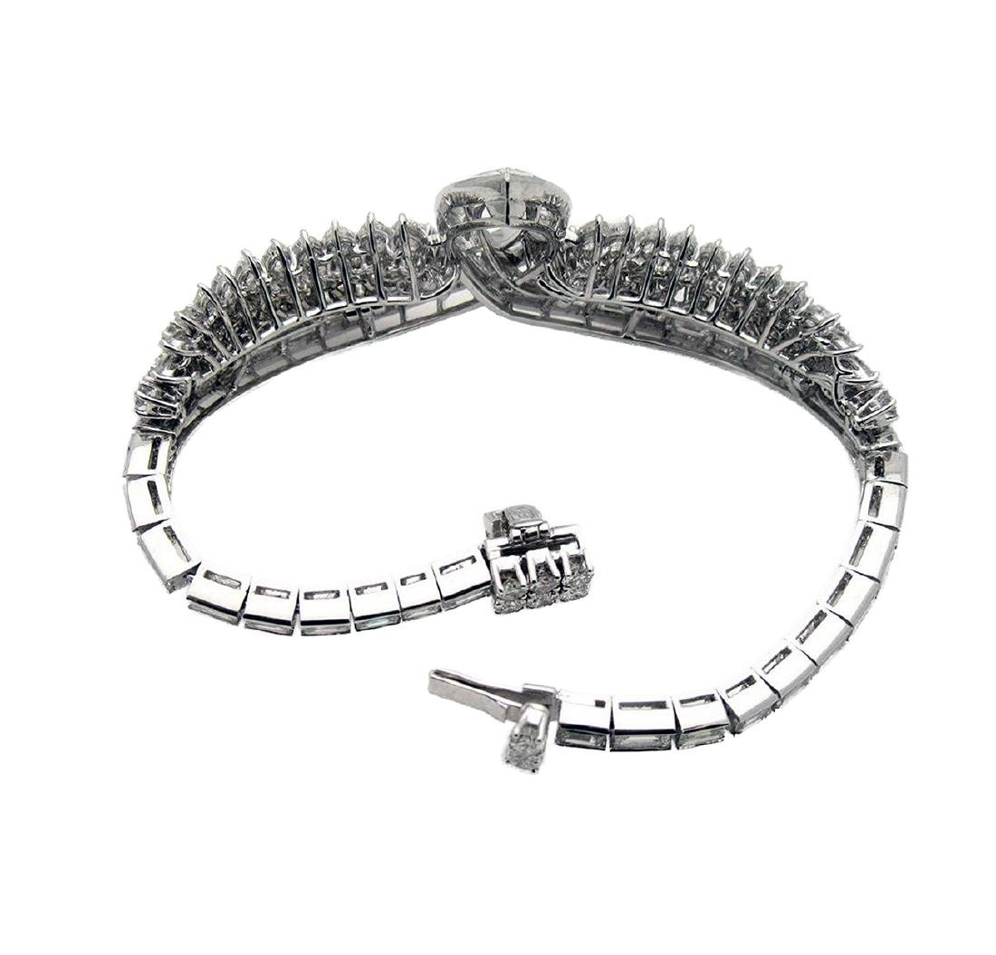 Vintage Harry Winston Platinum 20 TCW Diamond Bracelet - 3