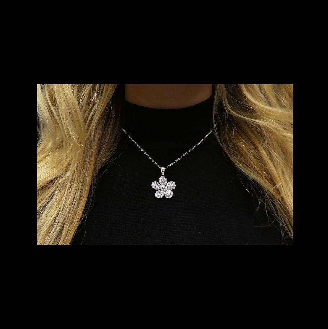 18k  8.00 TCW Brilliant Diamond Set Earring Necklace - 3