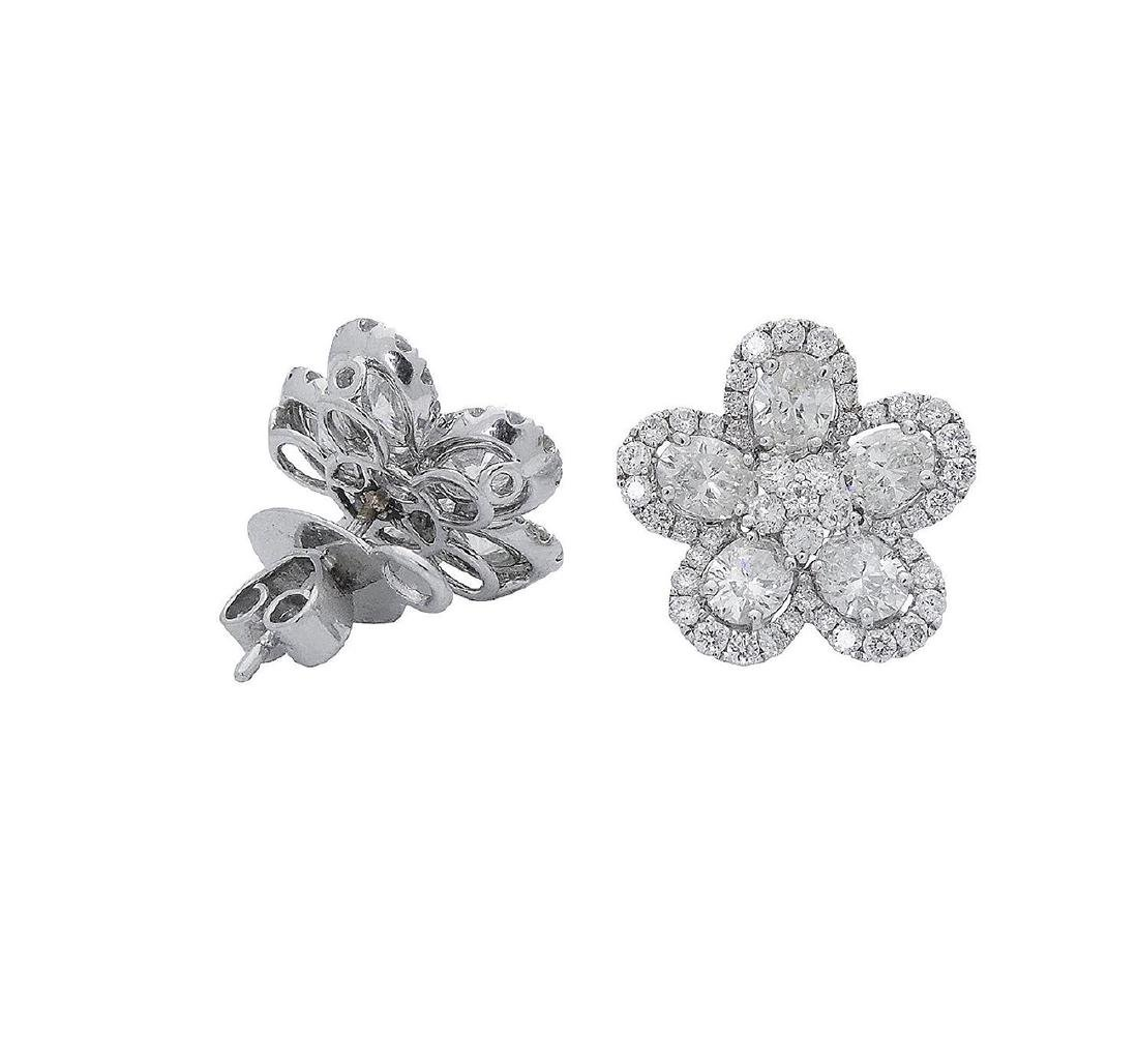 18k  8.00 TCW Brilliant Diamond Set Earring Necklace - 5