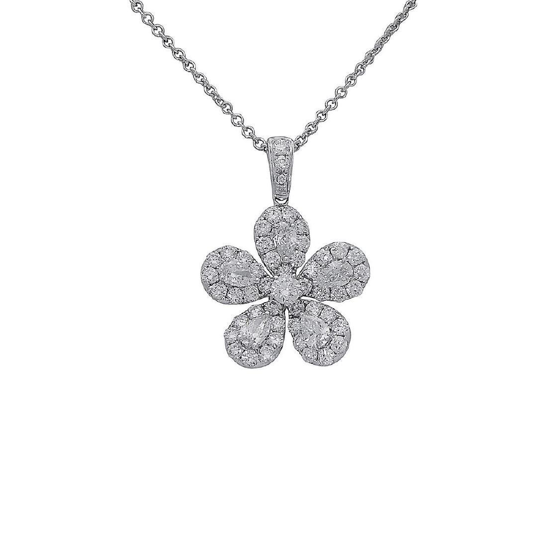 18k  8.00 TCW Brilliant Diamond Set Earring Necklace - 7