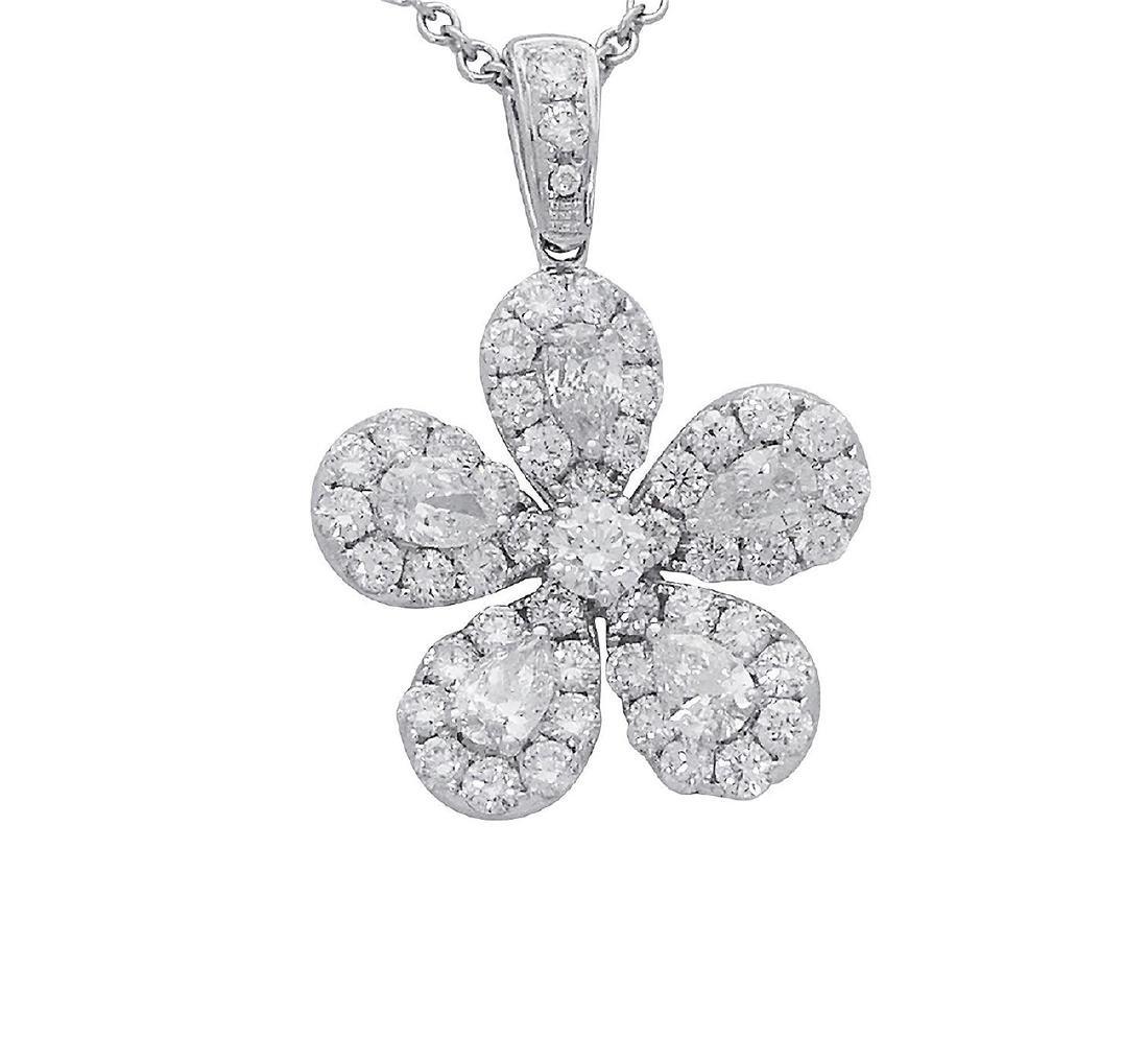 18k  8.00 TCW Brilliant Diamond Set Earring Necklace - 8