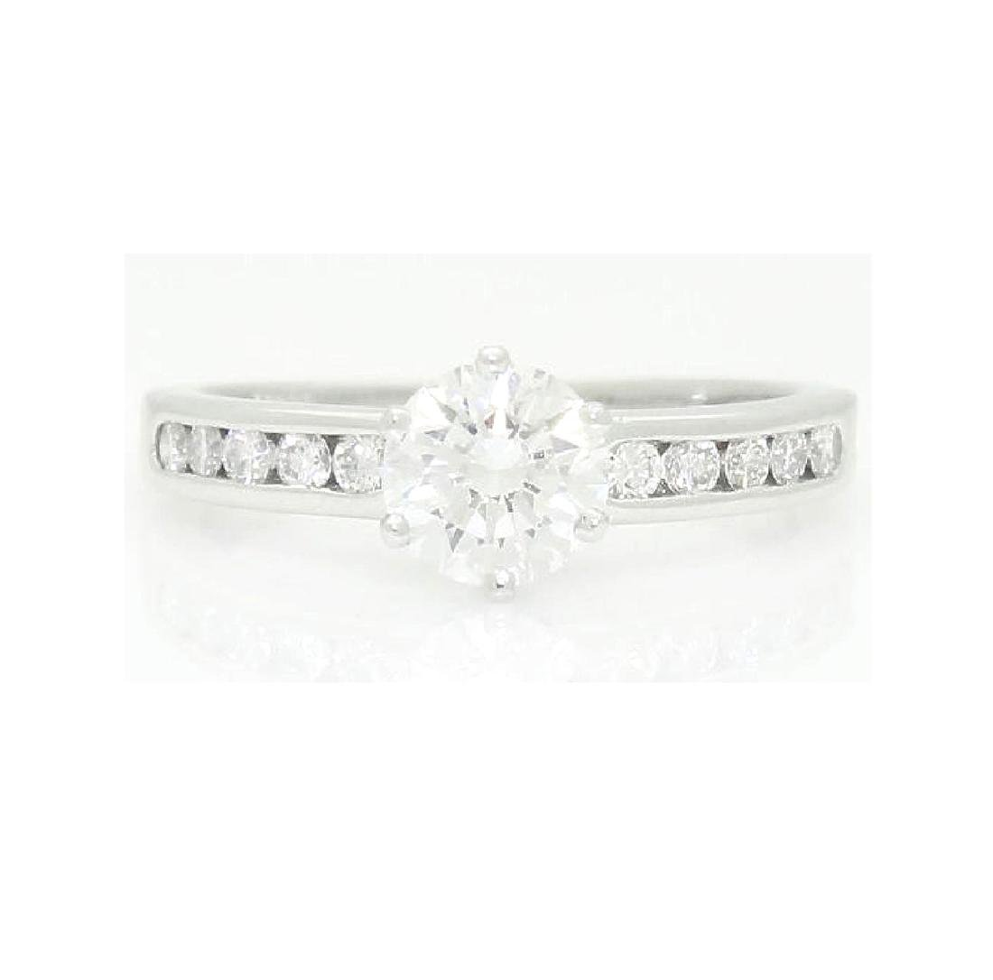 Tiffany & Co Platinum 0.82 Carat VS1 E Engagement Ring