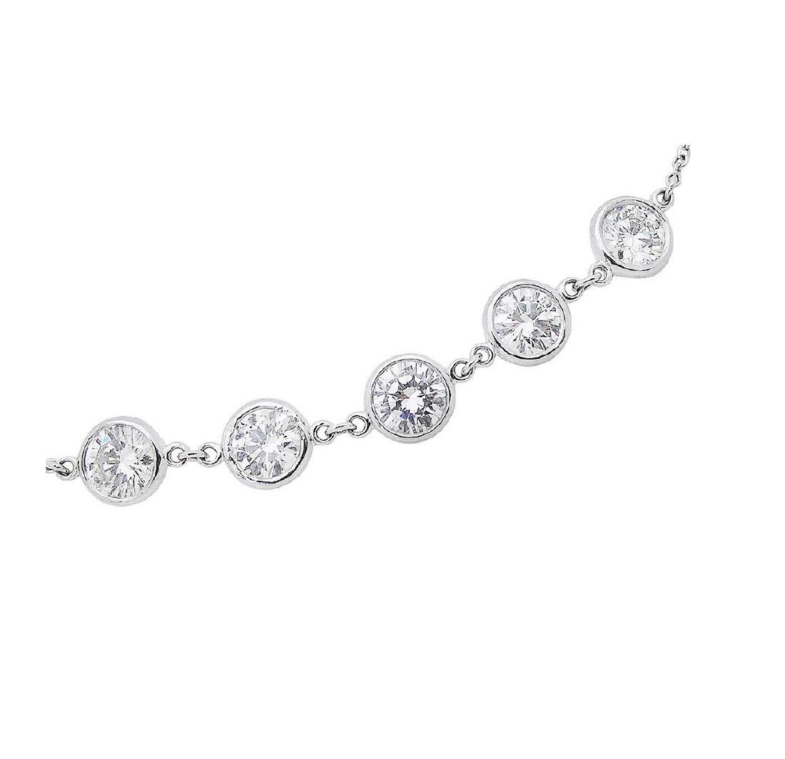Tiffany & Co Elsa Peretti Plat Diamond By Yard Bracelet - 2