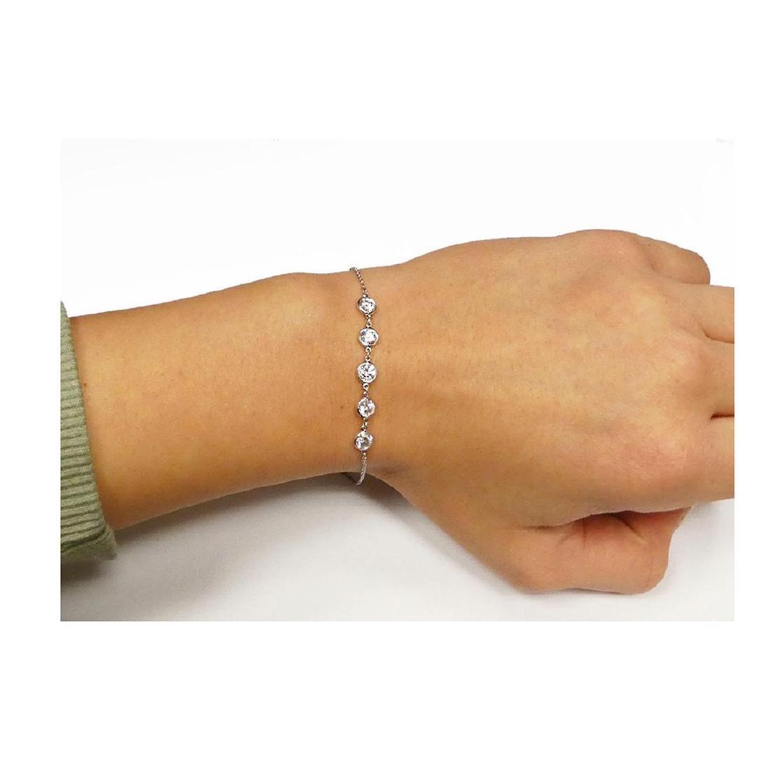 Tiffany & Co Elsa Peretti Plat Diamond By Yard Bracelet - 5