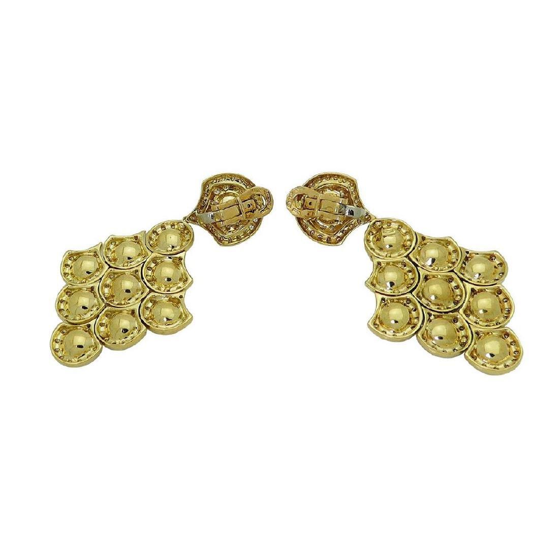 Bulgari 18k Gold 2.75 TCW Diamond & Pearl Dangle Clip - 4