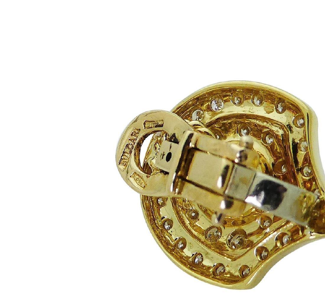 Bulgari 18k Gold 2.75 TCW Diamond & Pearl Dangle Clip - 6