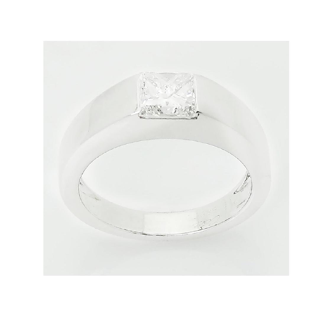 Cartier Platinum 0.90 TCW Princess Cut Diamond Ring - 2