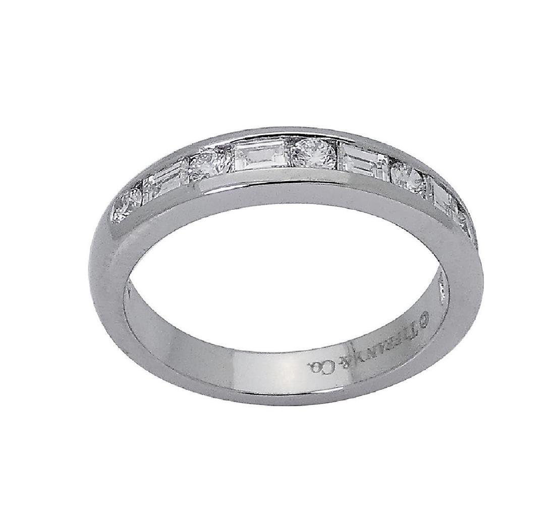 Tiffany & Co PT 0.66 TCW Round & Baguette Wedding Band