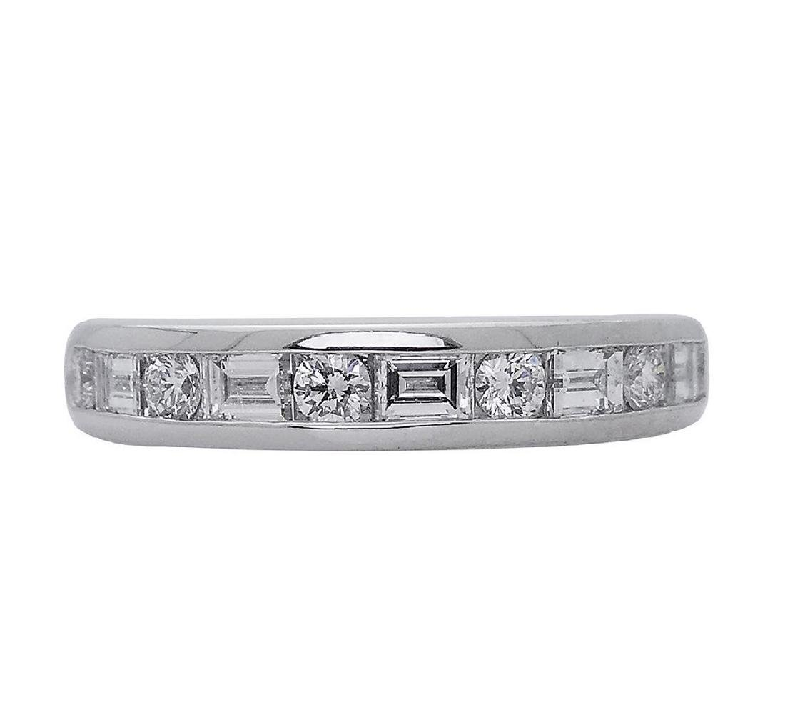 Tiffany & Co PT 0.66 TCW Round & Baguette Wedding Band - 2