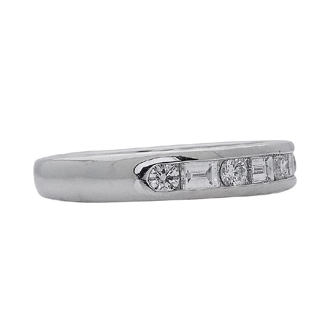 Tiffany & Co PT 0.66 TCW Round & Baguette Wedding Band - 3