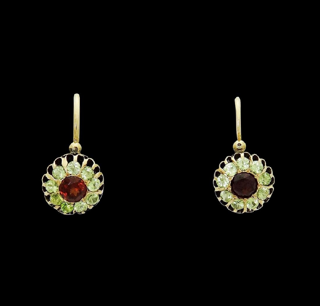 Antique Russian Faberge Michael Perchin Gold Earrings