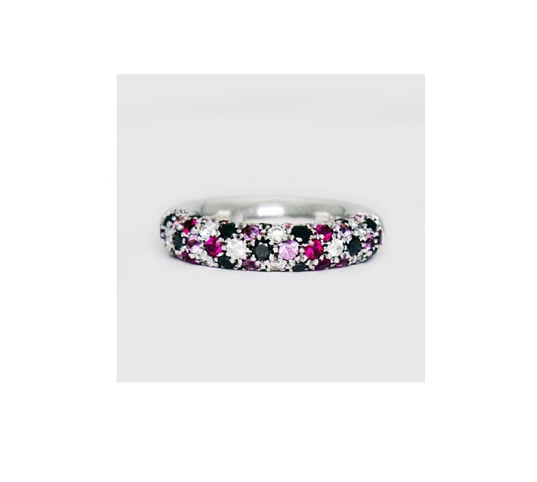 Valente Milano 18K Gold 2 ct Diamond Ruby Sapphire