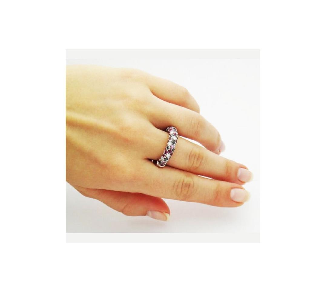 Valente Milano 18K Gold 2 ct Diamond Ruby Sapphire - 2