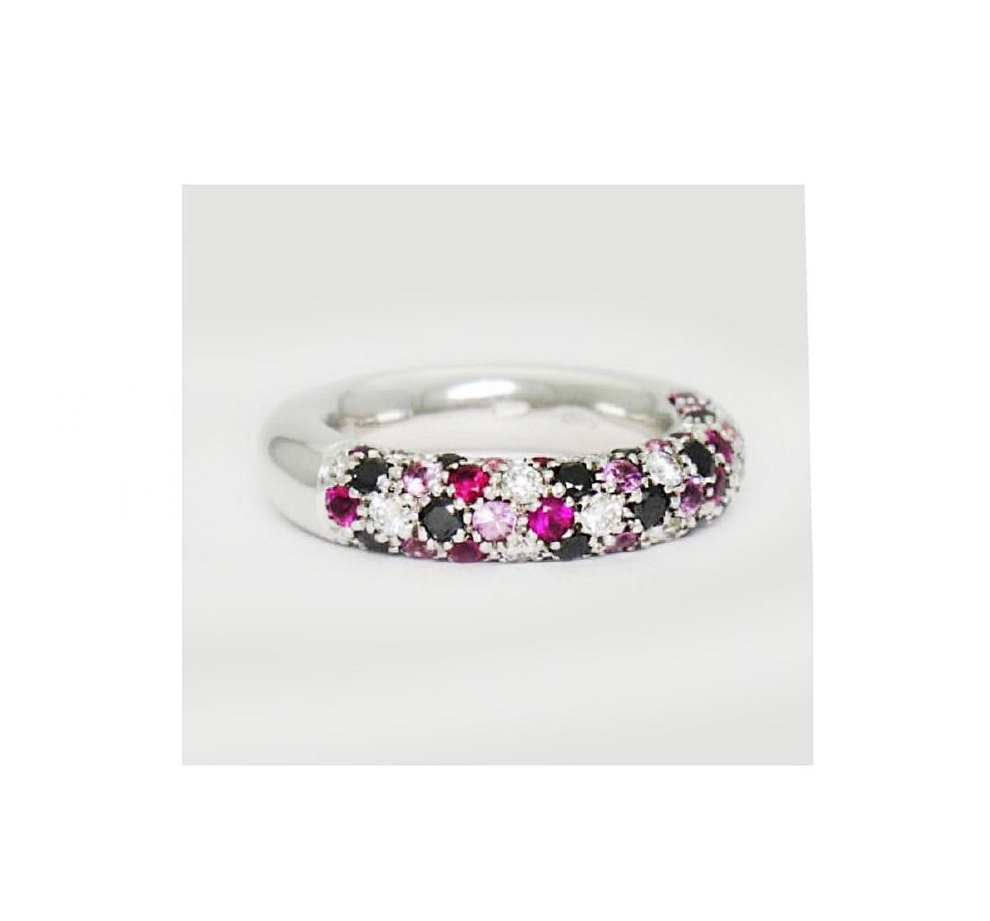 Valente Milano 18K Gold 2 ct Diamond Ruby Sapphire - 3