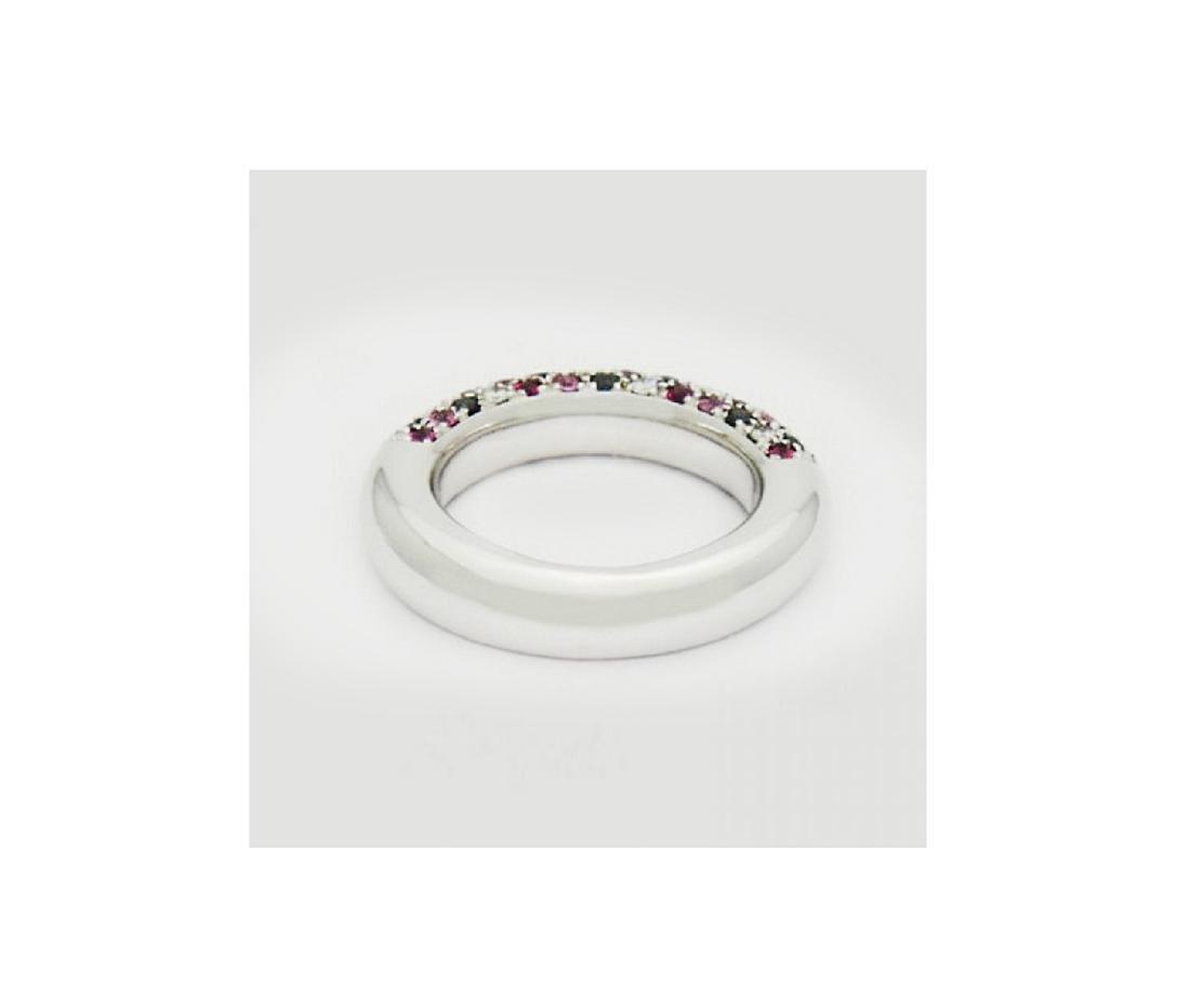 Valente Milano 18K Gold 2 ct Diamond Ruby Sapphire - 5