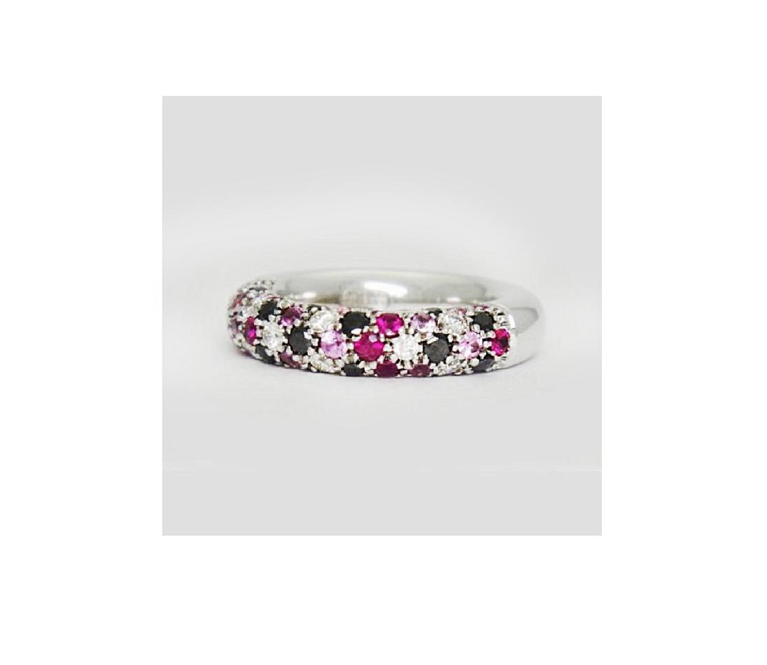 Valente Milano 18K Gold 2 ct Diamond Ruby Sapphire - 7