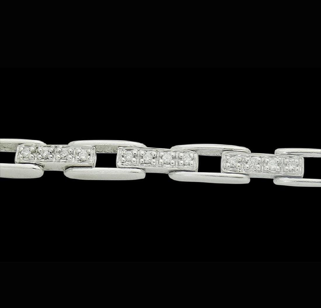 14k  & Apx. 1.00 TCW SI G Diamond Rectangular Bracelet - 4