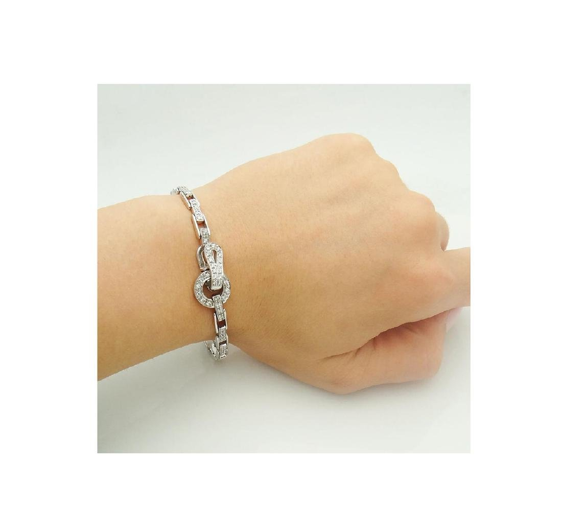 14k  & Apx. 1.00 TCW SI G Diamond Rectangular Bracelet - 6