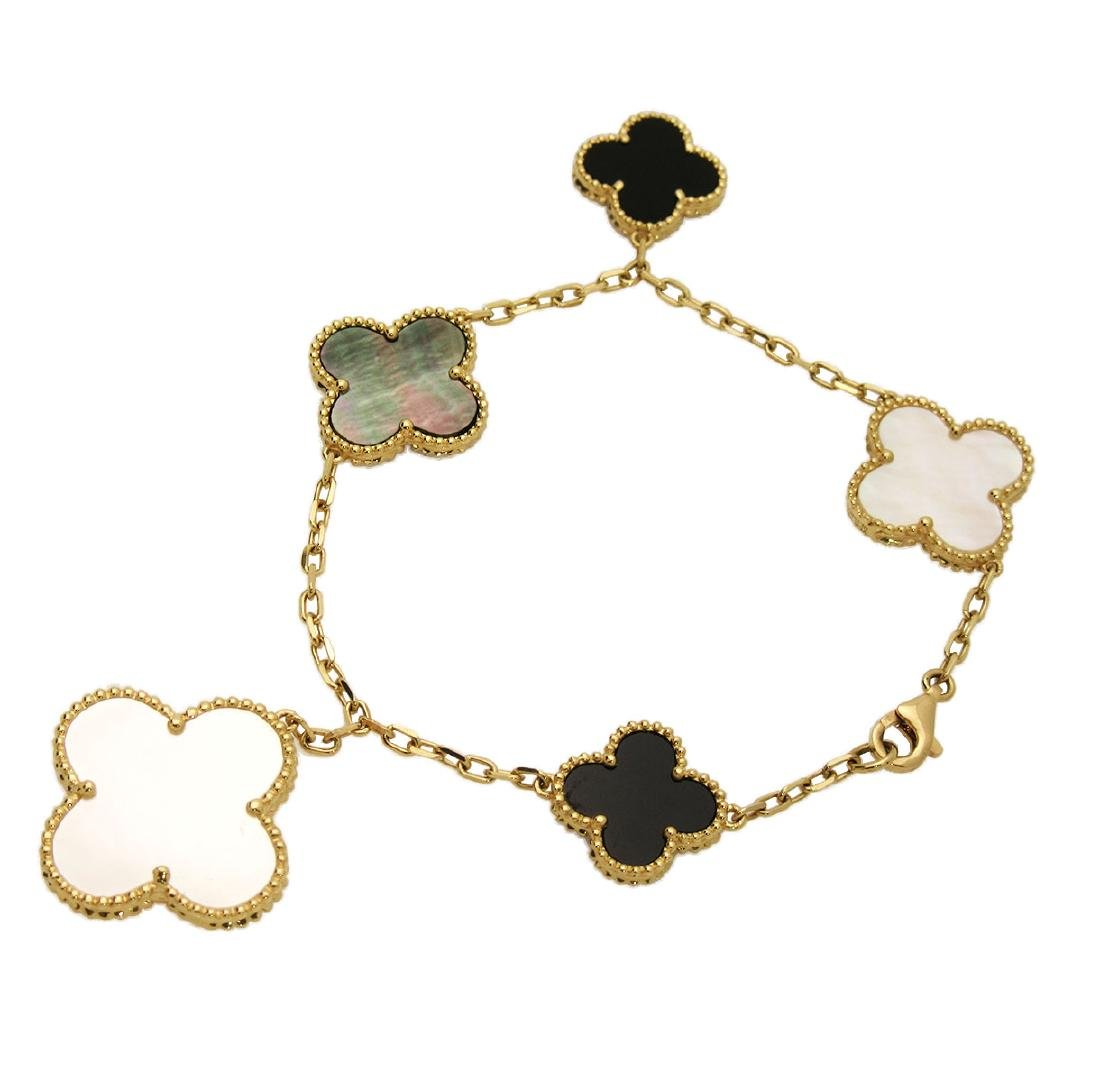 Van Cleef & Arpels 18k Alhambra Charm Bracelet