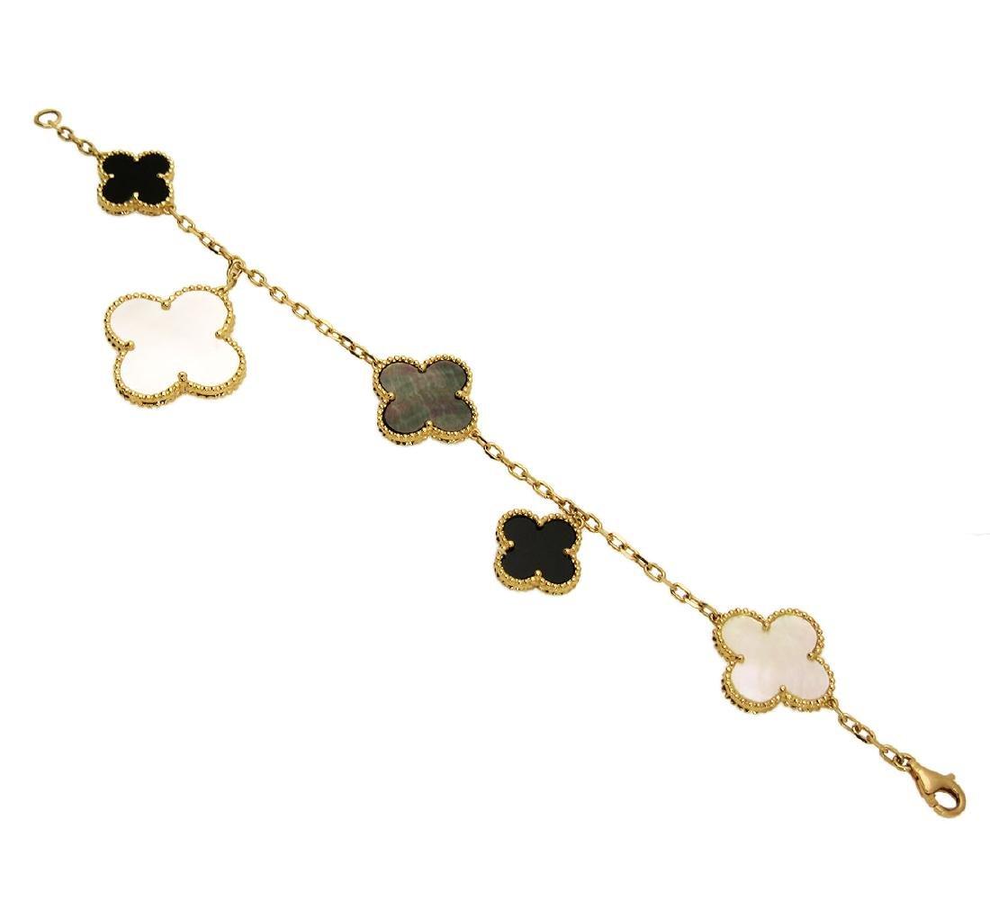 Van Cleef & Arpels 18k Alhambra Charm Bracelet - 2