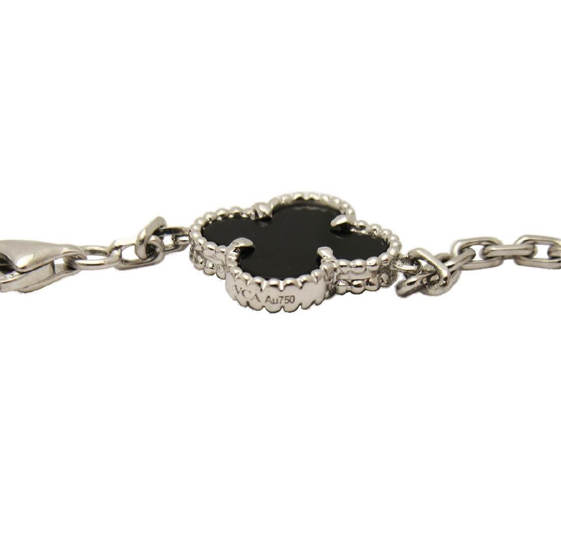 Van Cleef & Arpels 18K White Gold Black Onyx Alhambra N - 3