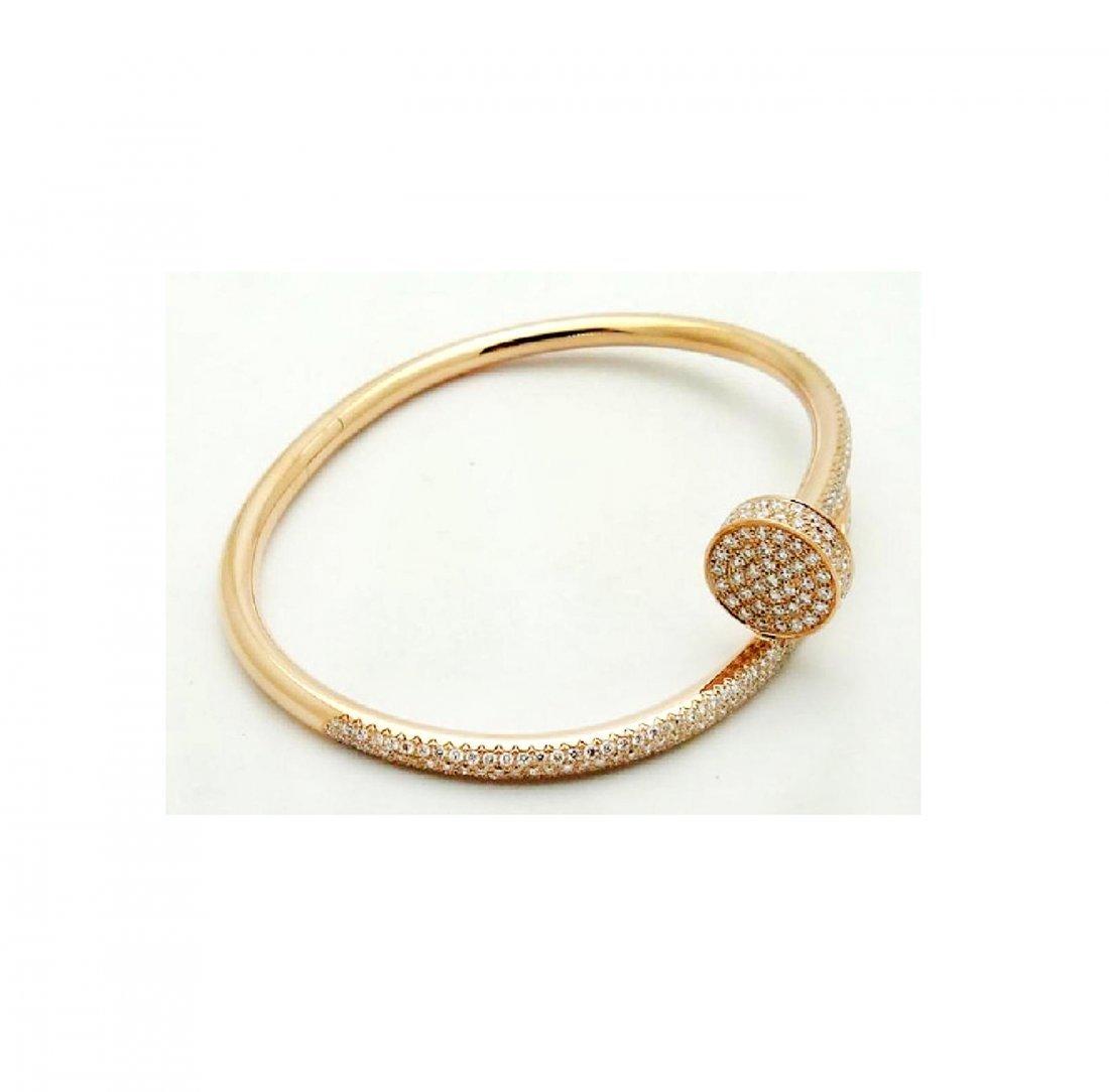 Cartier Nail 18K Pink Gold Diamond Bracelet