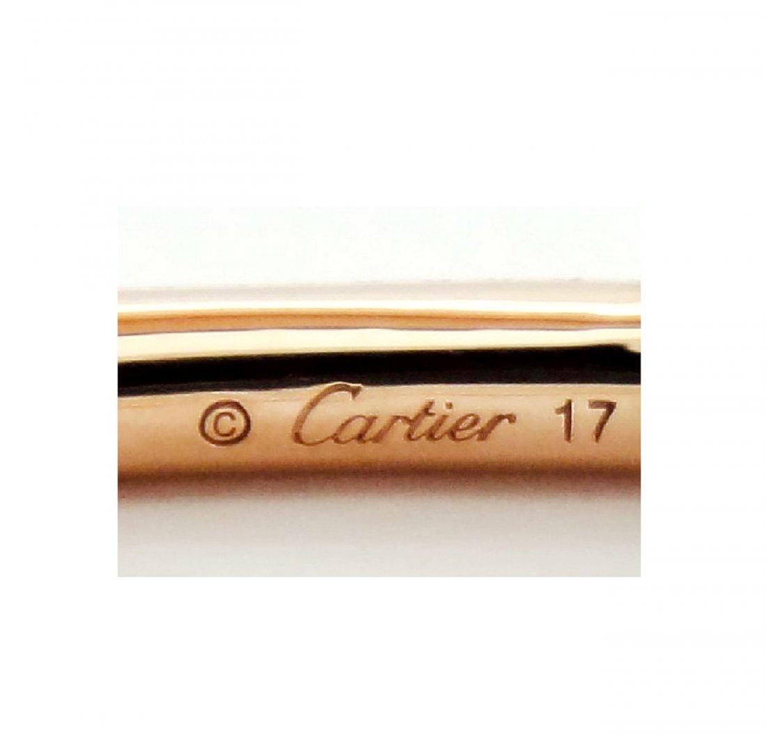 Cartier Nail 18K Pink Gold Diamond Bracelet - 3