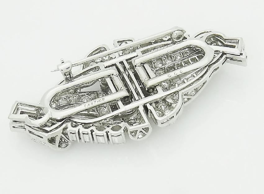 Cartier 1920s Platinum 6.00 TCW VVS/VS Clarity Diamond - 3