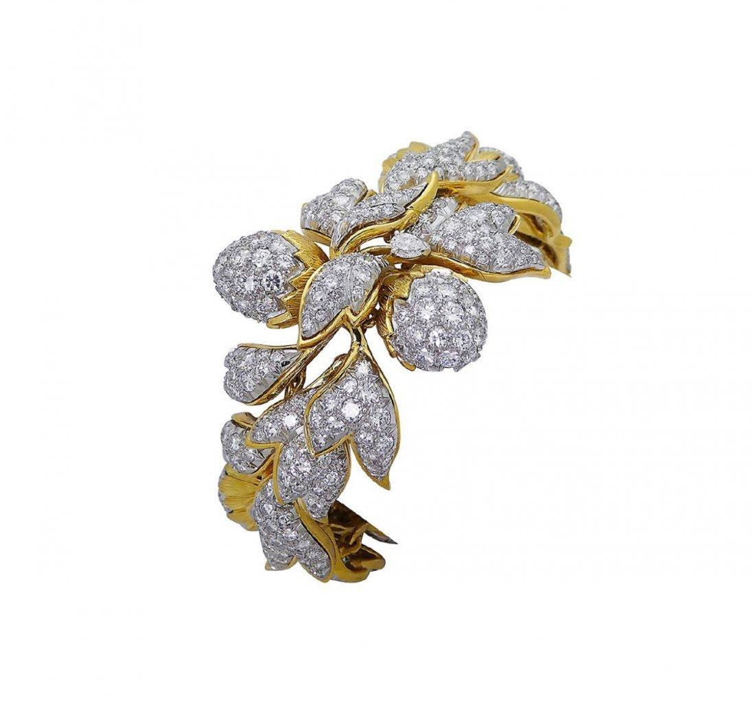 Tiffany &Co Schlumberger 18k 35 TCW Diamond Bracelet