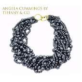18k Angela Cummings By Tiffany & Co Hematite Necklace