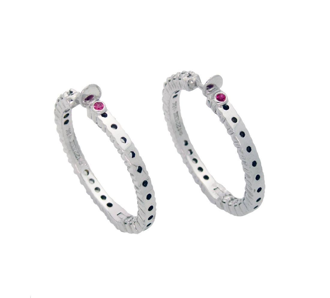 Roberto Coin Approx. 2TCW  Diamond Hoop Earrings - 2