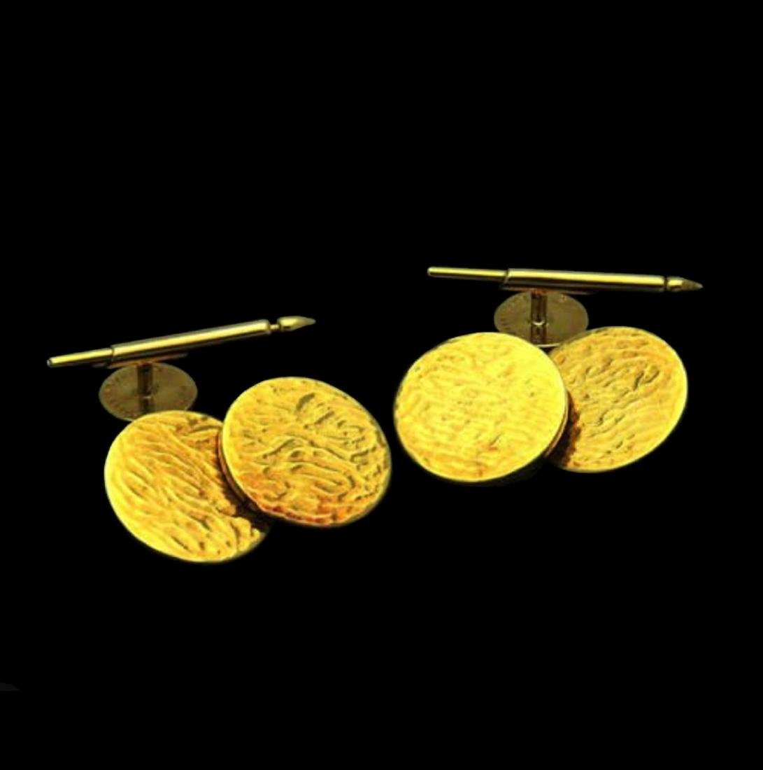 Tiffany & Co. Rare Cufflinks 18k Yellow Gold