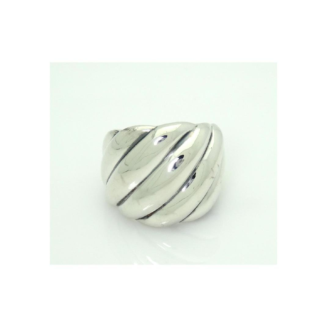 David Yurman 925 Sterling Silver Hampton Cable Ring Sz6